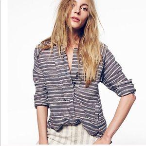 Free People Henley Hideaway tweed tunic pullover